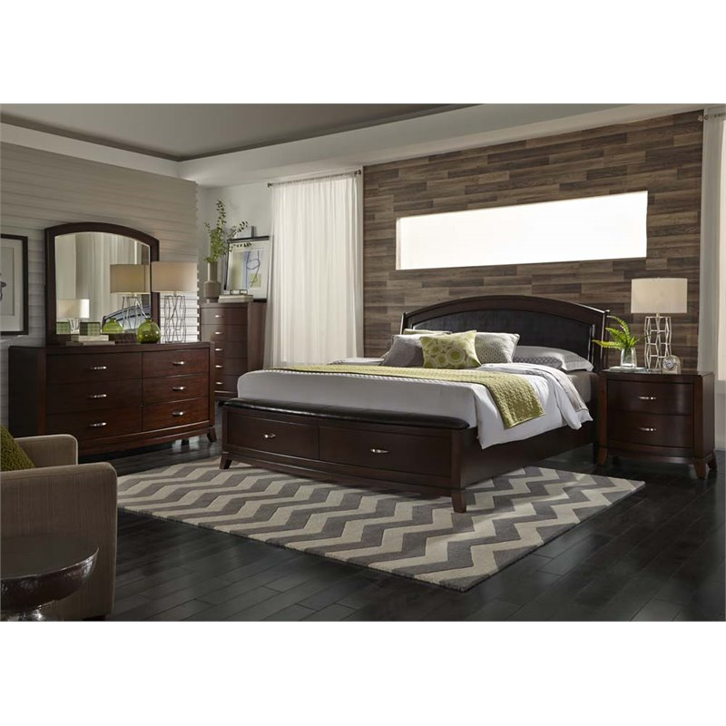 Liberty Furniture Avalon 5 Piece Queen Storage Bedroom Set - Walmart.com