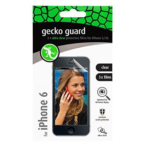 GECKO GEAR           GG700212 4.7IN CLEAR 3PK SCREEN GUARD FOR IPHONE6