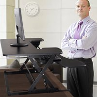 Jaxpety Ergonomic Black Height Adjustable Standing Desk Sit Desk Top Stand Desk Riser New