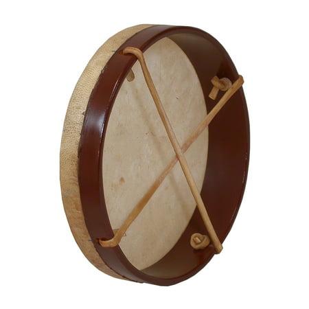dobani pretuned goatskin head wood frame drum w beater 10 x2. Black Bedroom Furniture Sets. Home Design Ideas
