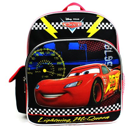 Mini Backpack - Disney - Cars - Lightning McQueen Black New A08493 (Lightning Mcqueen Sleeping Bag)