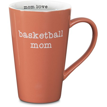 Orange Basketball Mom 18 oz. Latte Mug