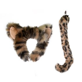 17a2d6562637 Wildlife Tree Plush Snow Leopard Ears Headband and Tail Set for Snow Leopard  Costume, Cosplay or Safari Party Costumes