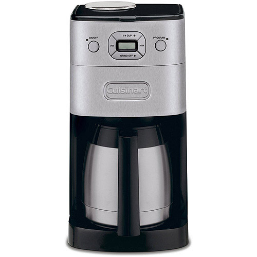 Cuisinart Grind-and-Brew Thermal 10-Cup Automatic Coffeemaker, Brushed Metal DGB-650BC