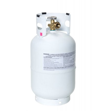 Flameking Portable Ready to Fill Empty LP Propane Gas Cylinder Tank, 10