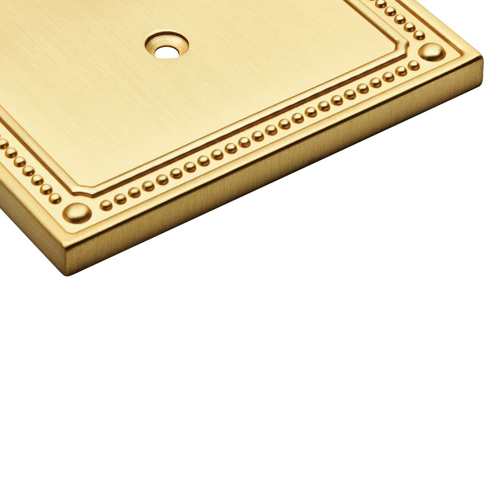 Franklin Brass Classic Beaded Triple Decorator Wall Plate in Brushed ...