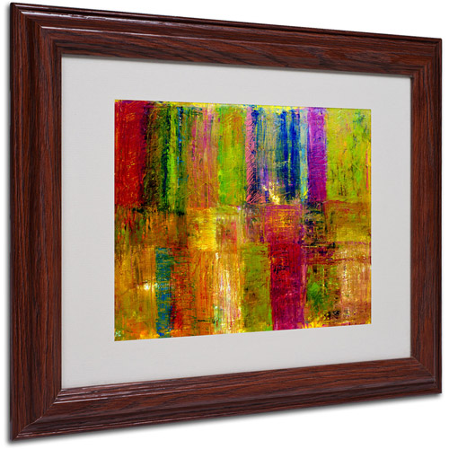 Trademark Fine Art 'Color Abstract' Framed Matted Art by Michelle Calkins