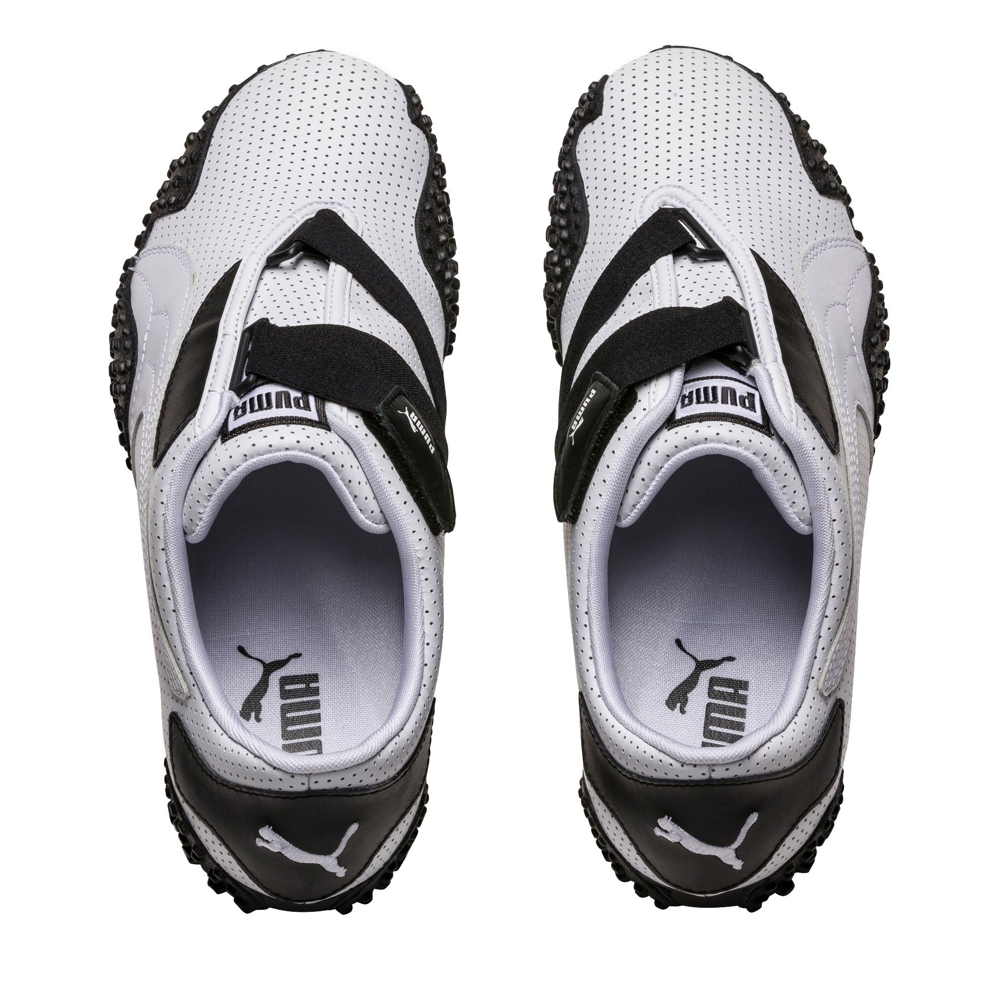 ec7db1f62a7c4f PUMA - Puma Men s Mostro Perforated White   Black Ankle-High Running Shoe -  11.5M - Walmart.com