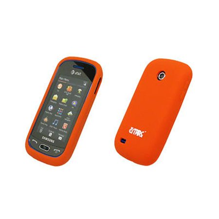 EMPIRE Orange Silicone Skin Cover Case for Samsung Eternity 2 (Eternity Skin)