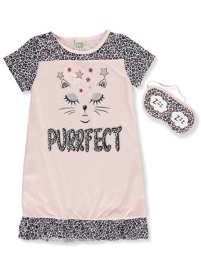 Sweet n Sassy Girls' Nightgown with Sleep Mask