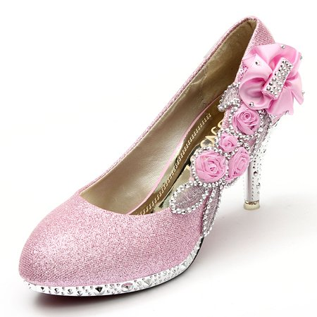 High Heel Dance Shoes - Women Crystal High Heels Wedding Bridal Dancing Party Shoes