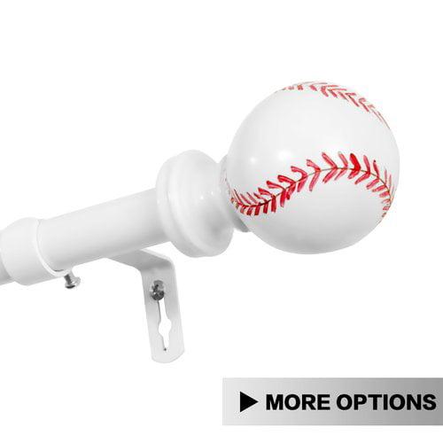 Zoomie Kids Hallinan Baseball Cap Single Curtain Rod & Hardware Set by