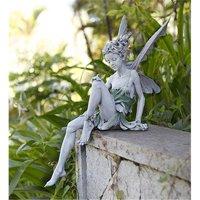 PerfectPatio Sitting Fairy Garden Statue