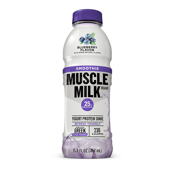 CytoSport Muscle Milk Blueberry Flavor Smoothie 15.8 oz Plastic Bottles - Pack of 12