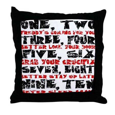CafePress - Freddy Krueger Rhyme - Decor Throw Pillow (18