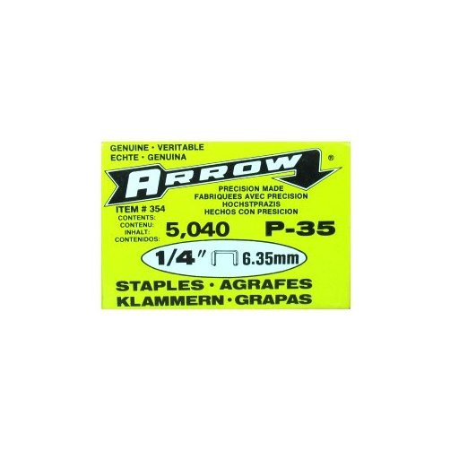 "Arrow Fastener 1 4"" P35 Staples, 5,000 Count by Arrow Fastener"
