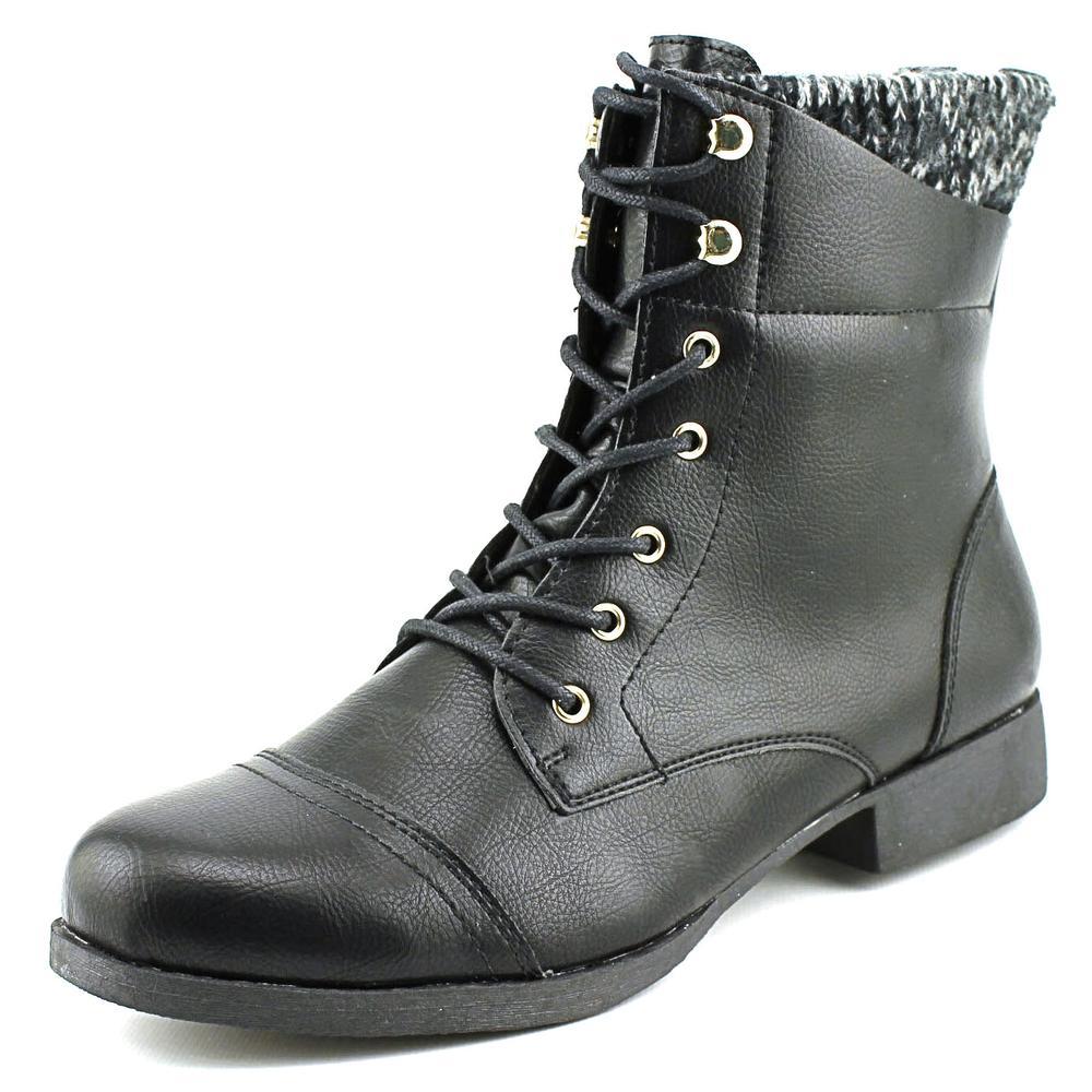 Wild Pair Peeta Women  Round Toe Synthetic Black Ankle Boot