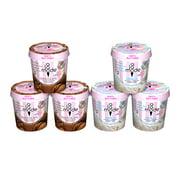 A La Mode Allergen (Nut, Sesame & Egg) Free Vanilla Ice Cream Pints and Chocolate Ice Cream Pints, 6 Ct.