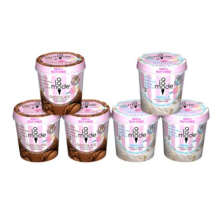 A La Mode Allergen (Nut, Sesame & Egg) Free Vanilla Ice Cream Pints and Chocolate Ice Cream Pints, 6 Ct. Vanilla Ice Cream Cups