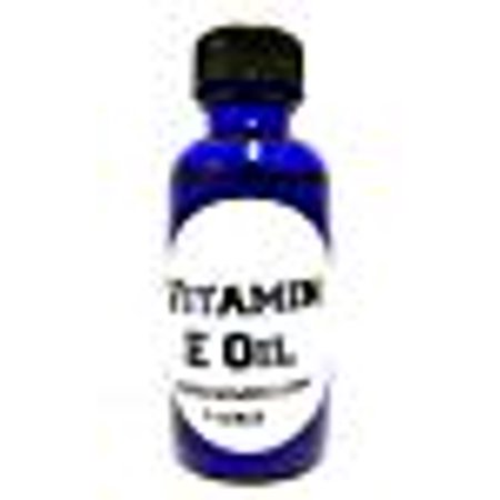 Vitamin E Oil, 1oz Blue Glass Bottle, Helps Heal Skin, Perfect for Wrinkles, Brown Spot and