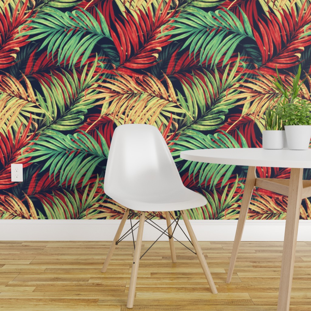 Peel And Stick Removable Wallpaper Nature Vintage Floral Retro