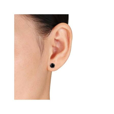 ba1f43a15 2 Carat Treated Black Diamond Studs Earrings In 14K White & Yellow Gold -  image 1 ...