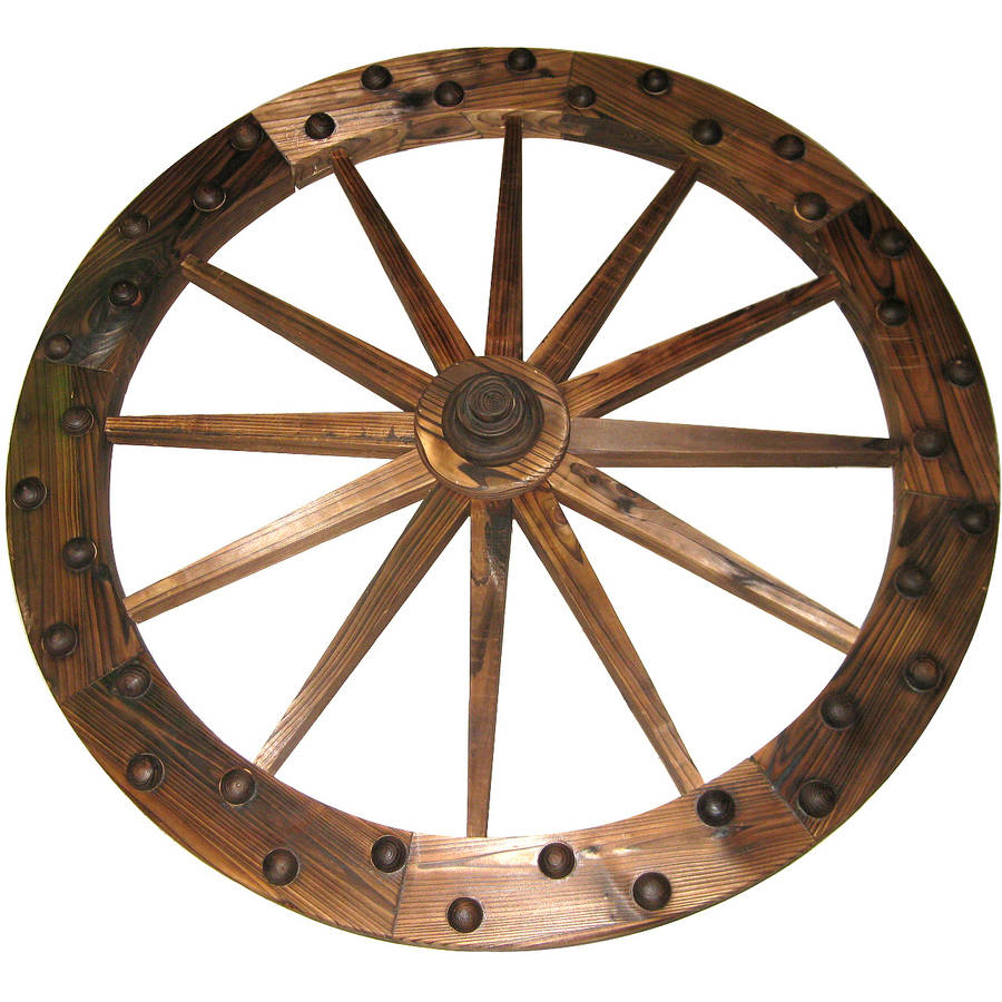 "Lehigh Country TX93759 36"" Deluxe Wooden Wagon Wheel"