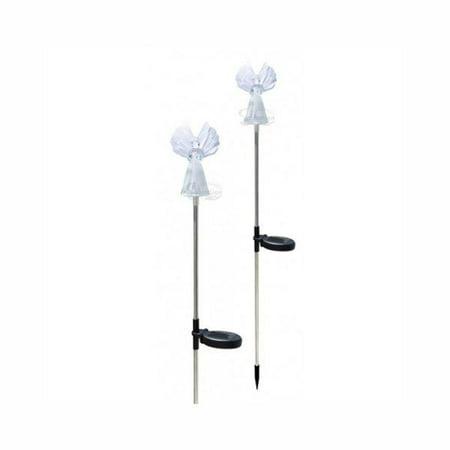 - Solar Powered Angel LED Light Garden Stakes, Set of 2