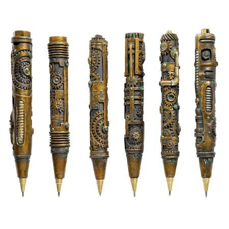 Industrial Steampunk Sculptural Ink Transport Pens