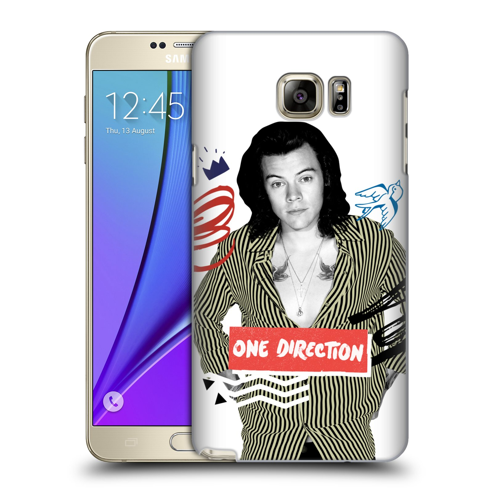 OFFICIAL ONE DIRECTION DOODLE X GRAFFITI HARD BACK CASE FOR SAMSUNG PHONES 1