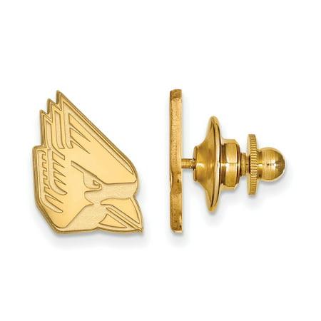 - Solid 14k Yellow Gold Ball State University Lapel Pin (11mm x 15mm)