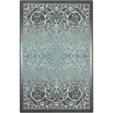 Medallion Rug - Mainstays India Medallion Textured Print Area Rug and Runner Collection, Multiple Sizes and Colors