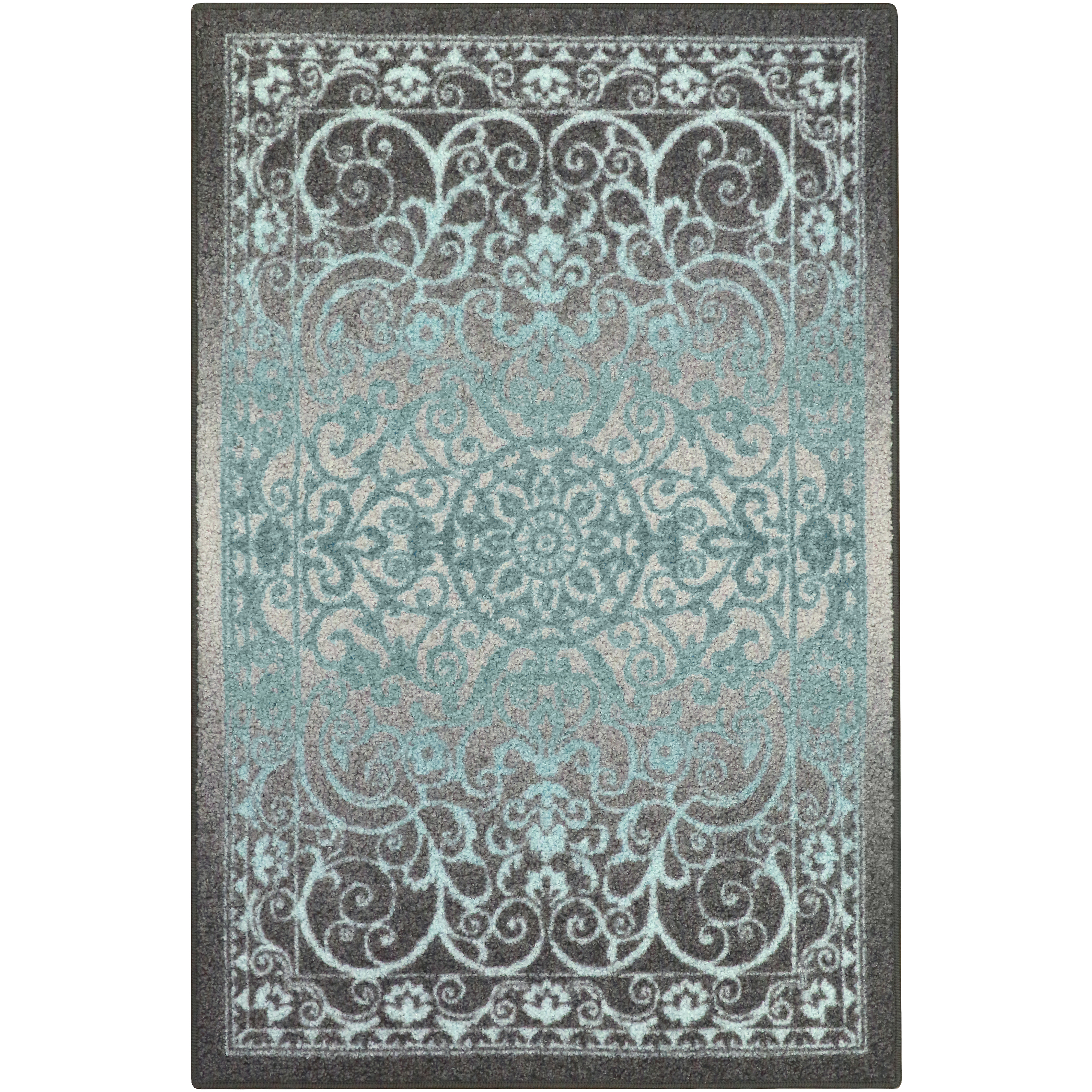Mainstays India Medallion Textured Print Area Rug and Runner Collection, Multiple Sizes and Colors