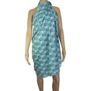 Womens 'Marie' Pareo Cloth Skirt/Dress, Aqua, 72 x 45