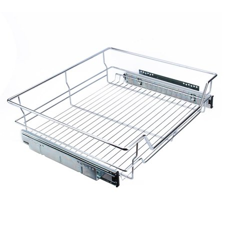 high quality,Under Shelf Storage Basket Kitchen Pantry Pull Out Sliding Metal Basket Drawer Storage (Best Quality Kitchen Cabinets)
