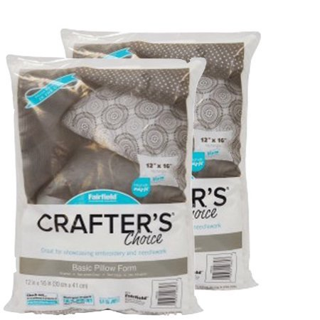 "Fairfield Crafter's Choice 12""x16"" Pillow Insert, Pack of 2"