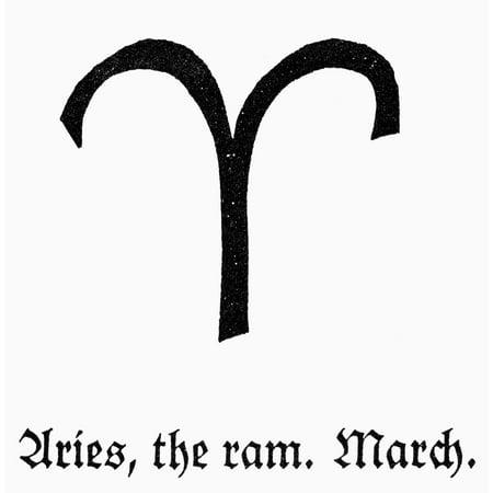 Zodiac Aries Nzodiacal Symbol Of Aries The Ram Rolled Canvas Art