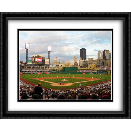 PNC Park 2x Matted 34x28 Large Black Ornate Framed Art Print from the Stadium (Pnc Park Framed)