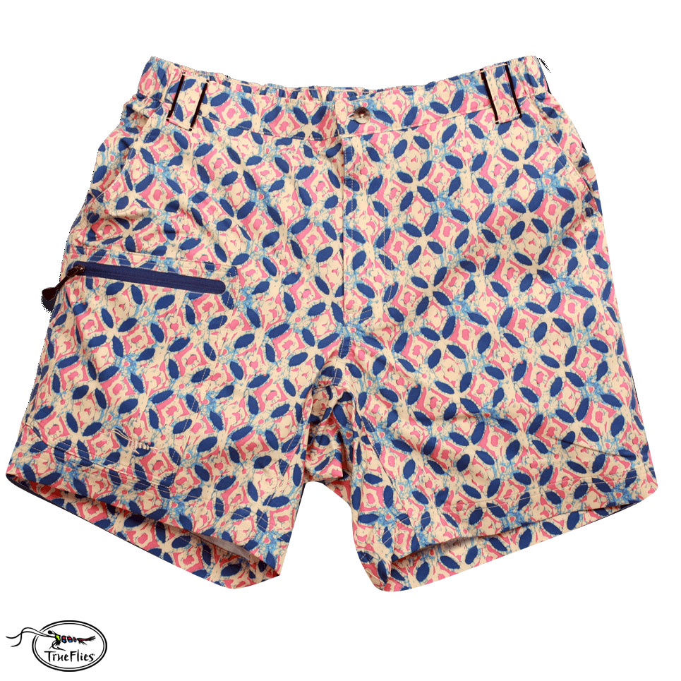 TrueFlies Shell Creek Sevens Shorts (M)- Batik by