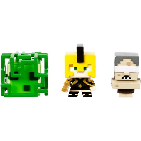 Minecraft Build-A-Mini 3-Pack Slime Cube Medusa, Alex In Achilles Armor, & Stygian Witch