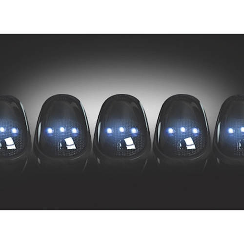 03-14 RAM 2500/3500, 5-Piece Kit Smoked Cab Roof Light Lens with White LEDs, Complete Kit with Wiring and Hardware