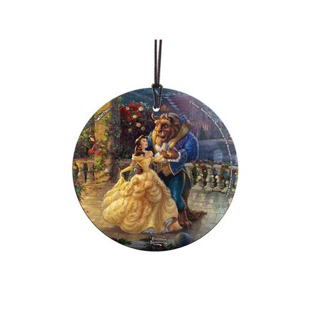 Trend Setters Disney Dancing in the Moonlight Beauty and the Beast Hanging Shaped Ornament