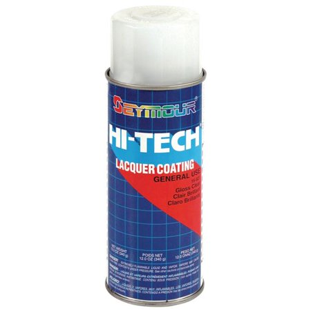 New Seymour Hi-Tech, Lacquers Spray Paint, Gloss -Clear (Uv) 16-821