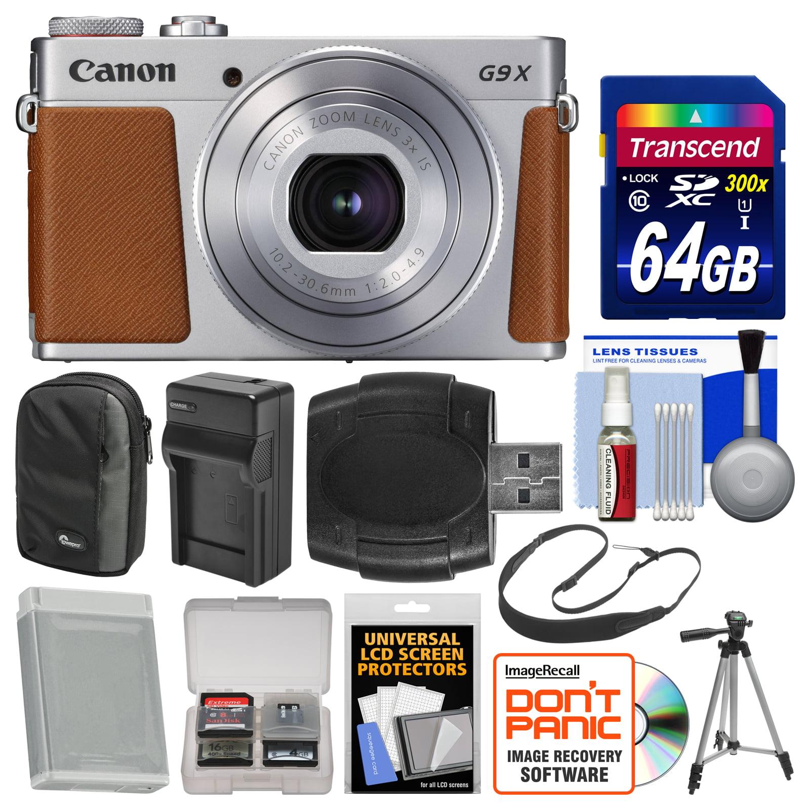 Canon PowerShot G9 X Mark II Wi-Fi Digital Camera (Silver) with 64GB...