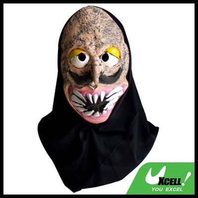 Horrible Skull Face Sharp Teeth Latex Halloween Mask