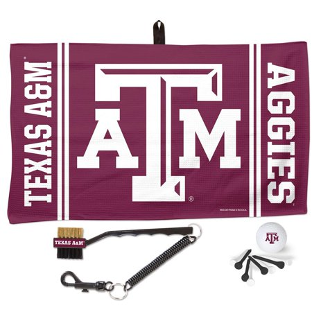 Texas Golf Gift (Texas A&M Aggies WinCraft Waffle Towel Golf Gift Set - No)