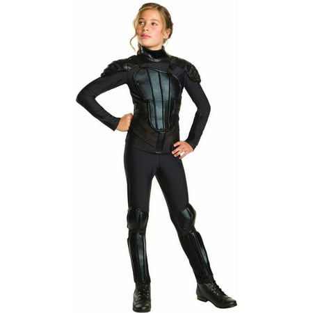 The Hunger Games Mockingjay Part 1 Deluxe Katniss Teen Halloween Costume (Halloween Costume Katniss Everdeen)