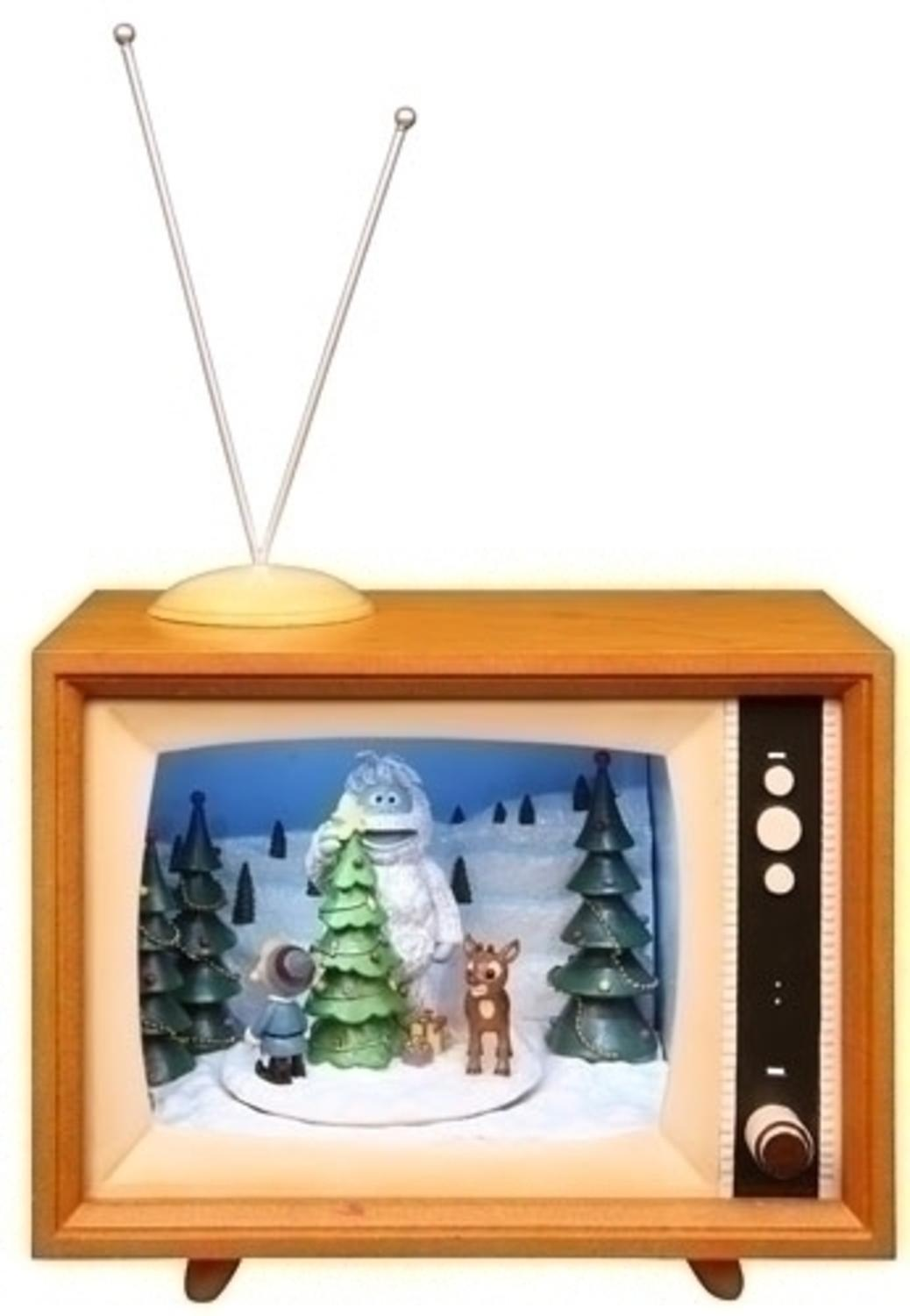 7 musical animated rudolph winter scene tv box christmas decoration walmartcom