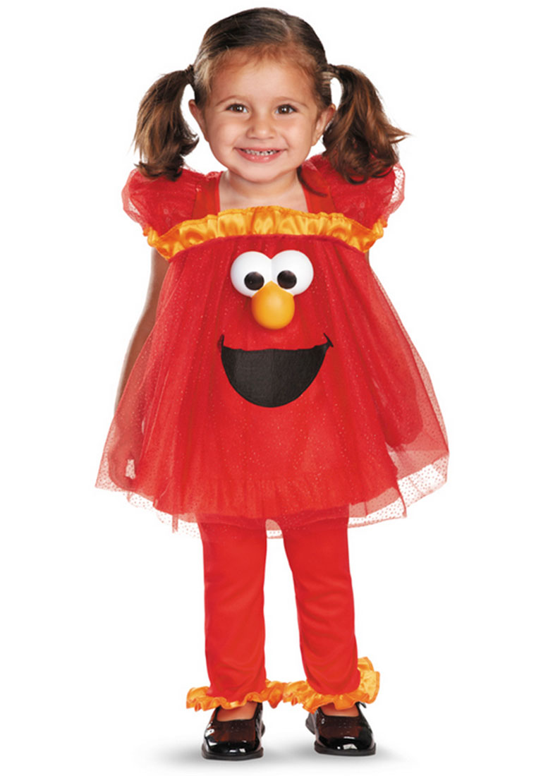 Child Sesame Street Frilly Light-Up Elmo Costume by Disguise 55176 by Disguise