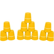 Quick Stack Cups - Speed Training Sports Stacking Cups - Set of 12 By Trademark Innovations (Yellow)